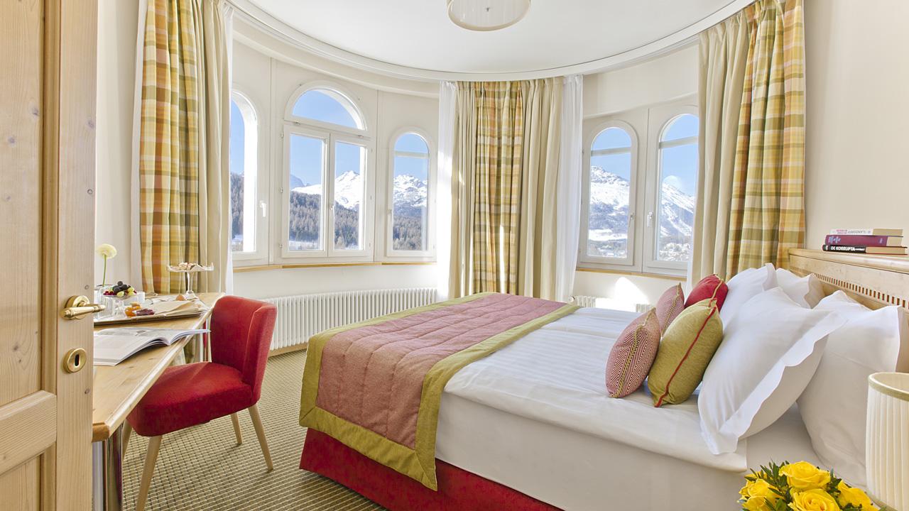 Hotel Schloss Pontresina dubbelrum(7-11 mars)